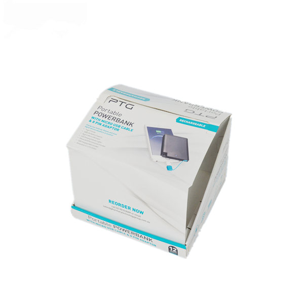 Rigid Counter Display and Paper Box Dual-use Case For Powerbank