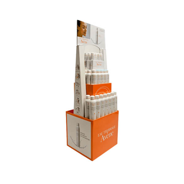 Innovative Corrugated Floor Standing Cosmetics Display Cardboard Lipsticks Stands for Retail