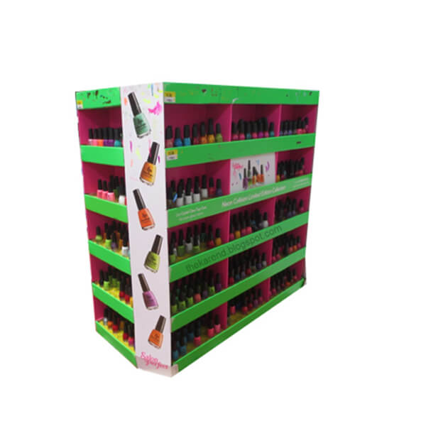Custom Printing Cardboard Display Shelf for Bottles, Corrugated Paper Stackable Pallet Rack for Kids Toys Book Retail