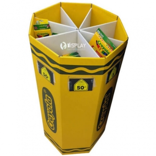 Durable Retail Dump Bins Cardboard For Stationery