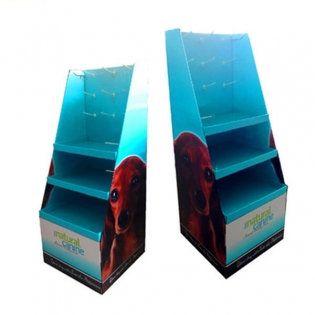 Magnetic Cardboard Display Shelves For Pet Food