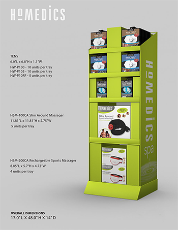 display stand size