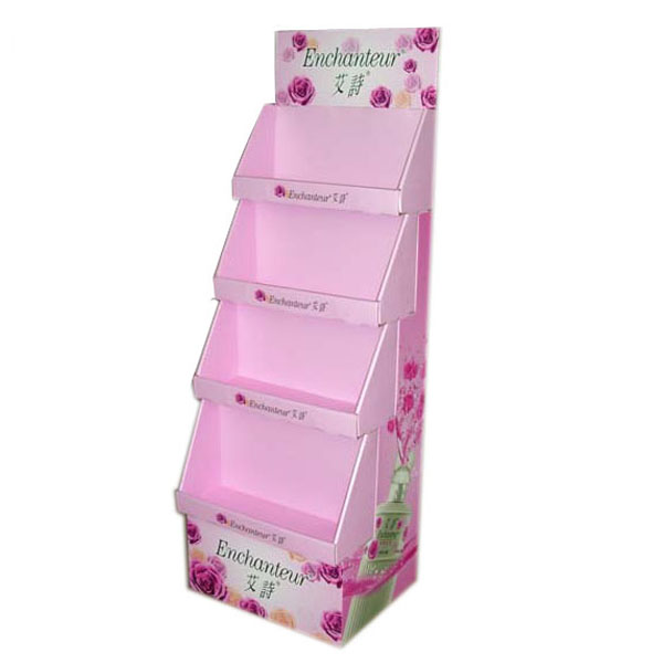 Colorful Printing Cardboard Cosmetic Display Rack