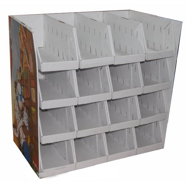Pop Up Underwear Retail Tray Floor Cardboard Display , Promotion Attractive Cardboard Pallet Display For Shoes