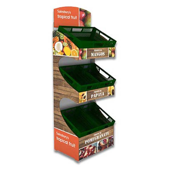 Cardboard Three Tray Floor Display (Three styles)