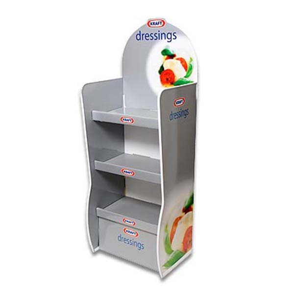 Cardboard Floor Vertical Three Tray Merchandiser