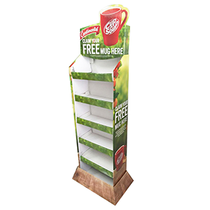 Custom Cardboard Coffee Display Stand For Retail Supermarket