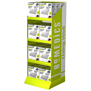 Supermarket Foldable POP Carton Stand Custom Retail Portable POS Cardboard Floor Display