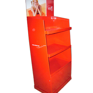 Solid Red Color Cardboard Display For Diverse Products