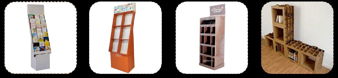 cardboard book rack