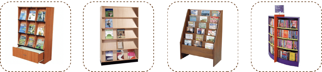 retail shop book rack