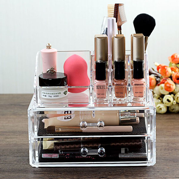 Factory Customized Acrylic Makeup Organizer HLD-A003