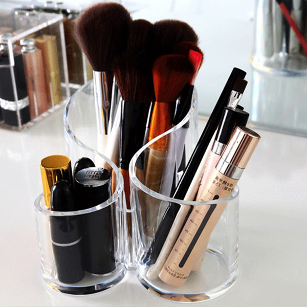 Factory Customized Acrylic Makeup Brush Holder HLD-A017
