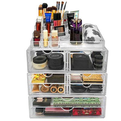 Factory Customized  Acrylic Makeup Drawer Organizer  HLD-A015