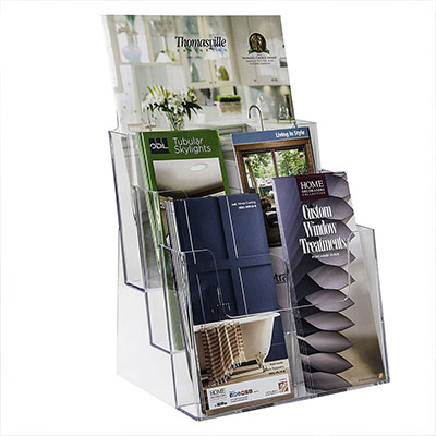 Factory Customized Acrylic Brochure Holder HLD-A022