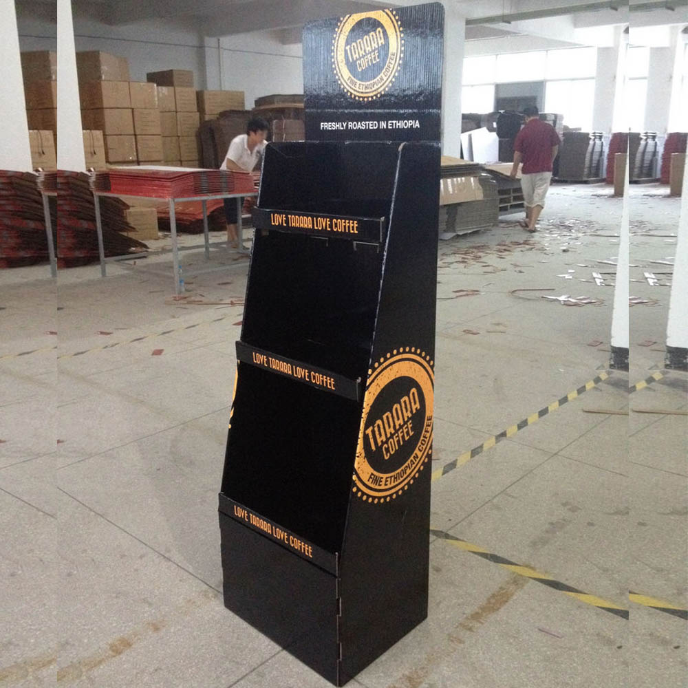 Factory Hight Quality | 3 Tiers Corrugated Tray Display   HLD-YPZ063