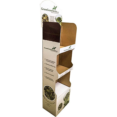 New Design Corrugated Cardboard Shelf Display   HLD-YPZ083