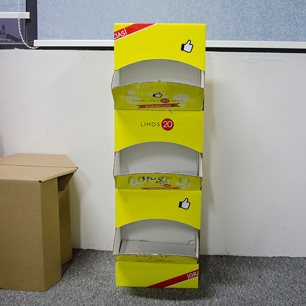 China OEM/ODM Custom Design Cardboard Hand Cream Display Stand Racks For Makeup Cosmetics    HLD-YPZ088