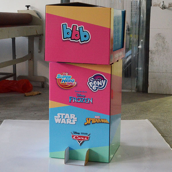 2019 New Design Retail Store Cardboard Dumbin For Biscuit, Snack Or Toy    HLD-YPZ095