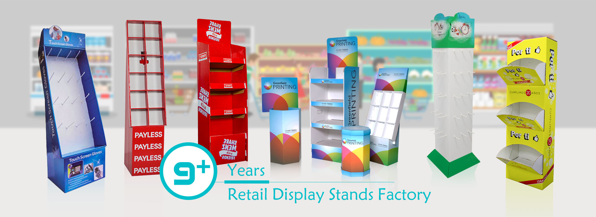NOW!! Contact Us To Meet Your Display Stands Needs