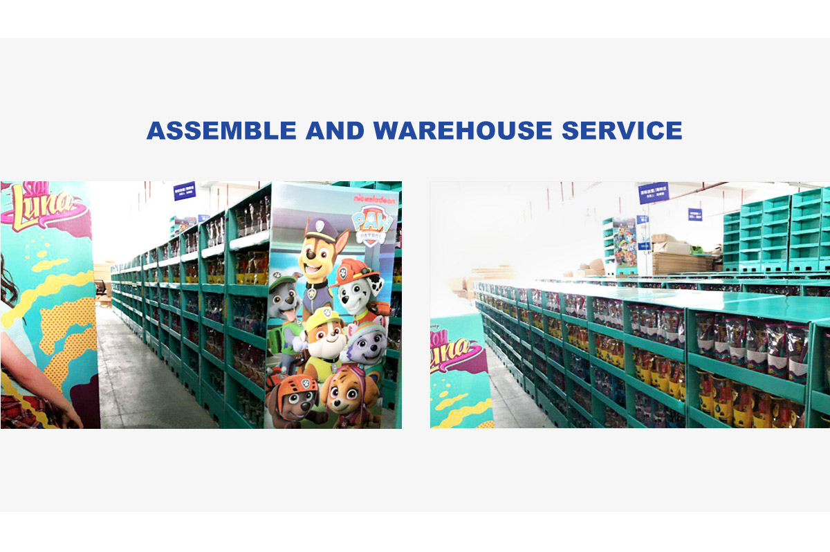lanshow holiday display can provide assemble and warehouse service