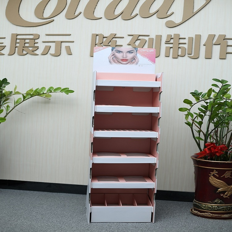 Do You Know the Benefits of Using LANSHOW Brand Paper Display Racks for Cosmetics?