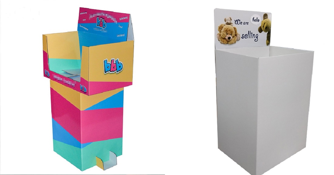 propos cardboard display and dump bin