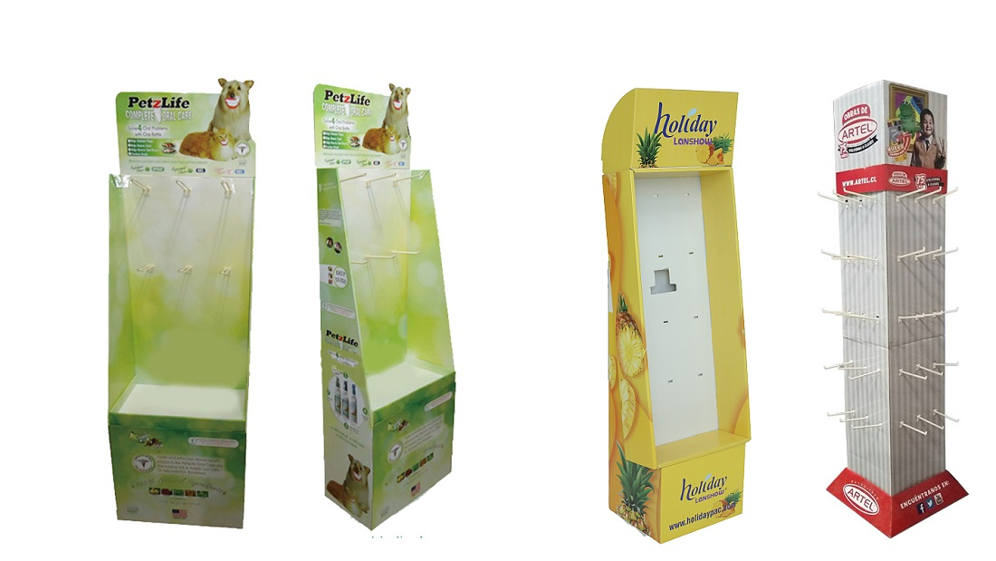 Cardboard Display Unit——Hook Display Stand