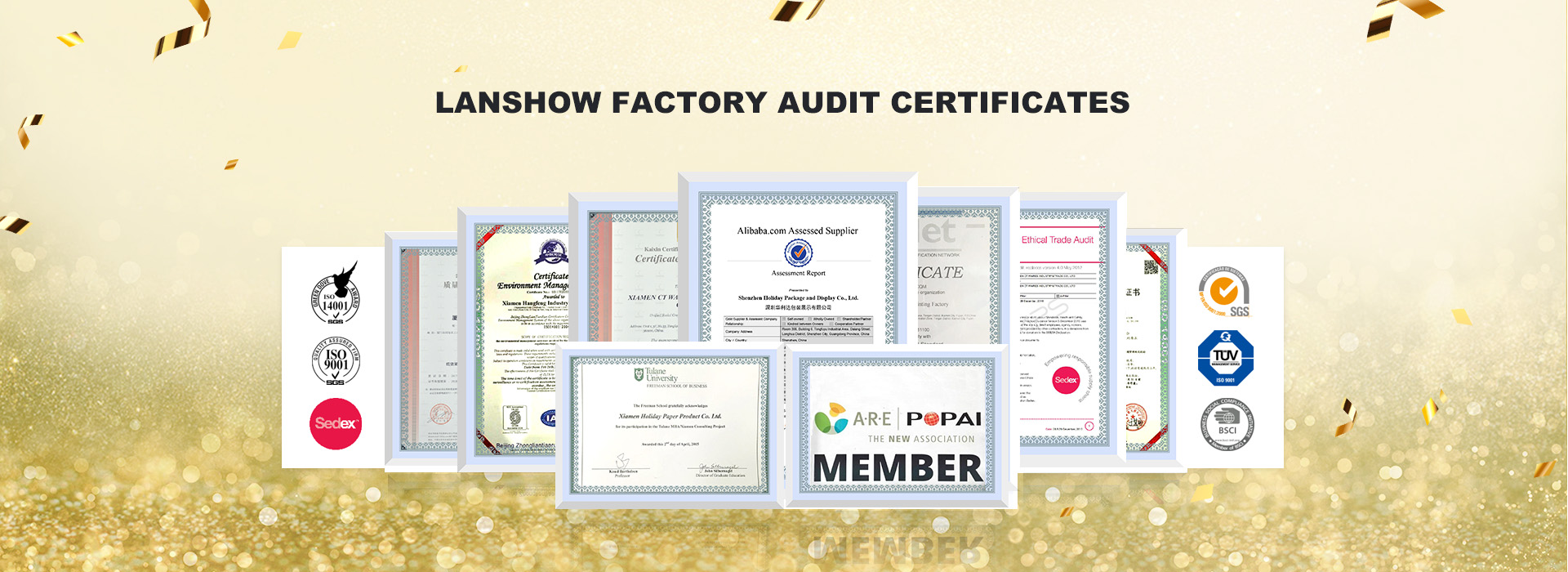 Lanshow Factory audit certificates