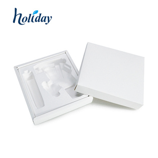 Eco-friendly Molded Color Pulp Tray Sugarcane Bagasse Electronics Tray Packaging HLD-P010