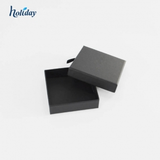 Customize the logo black craft  ring necklace bracelet watches cuff link paper jewelry gift  packaging box