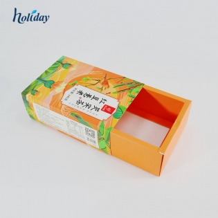 Custom logo printed foldable snacks candy chocolate jewelry slippage Posting box gift cardboard drawer boxes