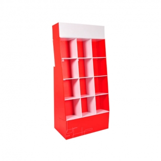 Eco Friendly Advertising Promotional Book Stores POS Cardboard Pocket Books Display Stands Rack For Magazines