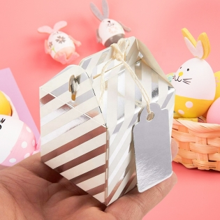 Whole Originality Foil Paper Treat Boxes Wedding Birthday Partiy Easter Bunny and Eggs Basket Containers Candy Cookie Boxes