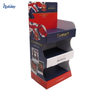 High Quality And Eco-friendly Paper Supermarket Shelf Ready Packaging Cardboard Display Shelf For Retail Stores