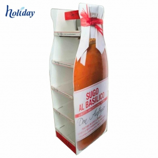 China Wholesale Displays Cheap Price New Design Paper Cardboard Soft Drink Fruit Juice Display Stand Racks