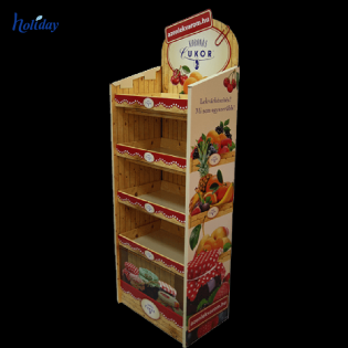 Paper Material Cardboard Beer Display Case , Beer Can Display Shelves For Stores