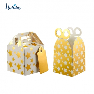 Custom Foil Wedding Birthday Party Popular Small Gift Box Storing Candy Chocolate Toys Cookie Paper Treat Boxes