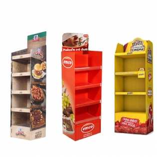 Promotion Retail Store Free Standing Retail Display Units Rack,Cardboard Retail Display Stand