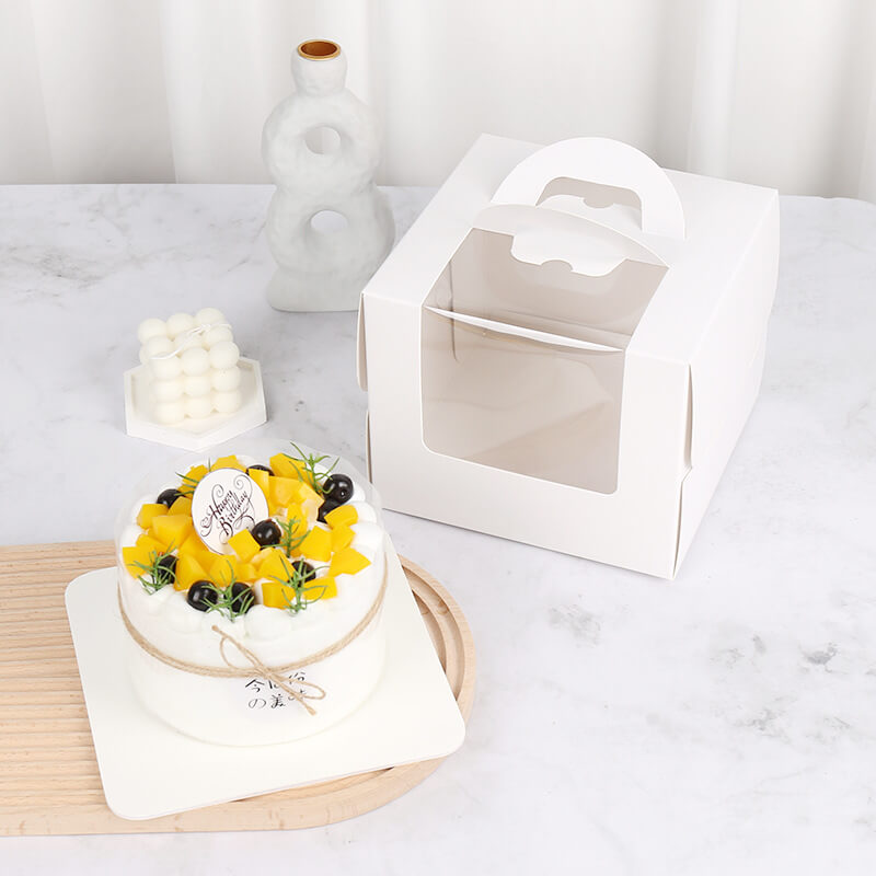 Wholesale 6/8Inch Portable Cup Cake Box Transparent Window Cake Box