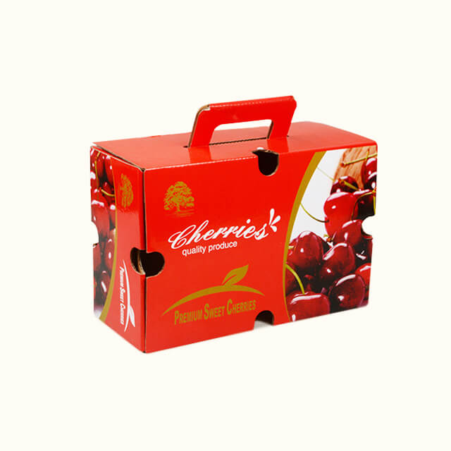 Custom Wholesale Cherries Box 1-2.5kg Cardboard Fresh Fruits Packaging Boxes