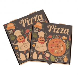 Custom Wholesale Pizza Packaging Paper Corrugated Cardboard Pizza Box