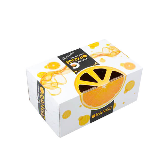 Custom Printing Corrugated cardboard orange fruit packaging boxes