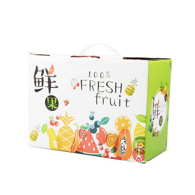 Custom printed corrugated board carton box fruit packaging cardboard boxes