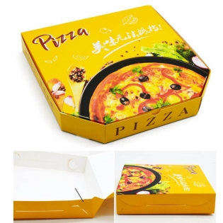 Hot style popular pizza box manufacturers customized food grade pizza take-out box