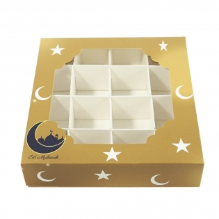 Wholesale Festival Gift Box Candy Chocolate Pastry 16 Grid Gift Box With Window