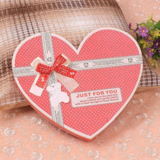Wholesale 27 Cavity Heart-shaped Bowknot Chocolate Kraft Paper Gift Box