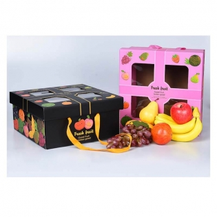 Wholesale Fruit Box Grape Peach Apple Mango High-end Creative Hand-held Gift Box Custom