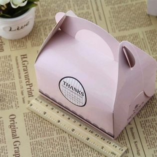 Wholesale Portable Handle Bakery Cake Boxes Mousse Cookies Pastry Packaging Boxes