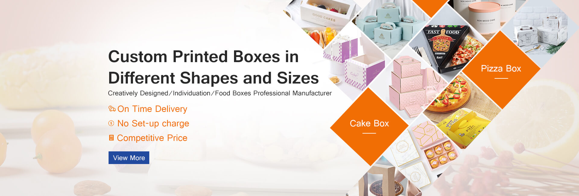 Chinese factories wholesale food boxes cake boxe pizza box